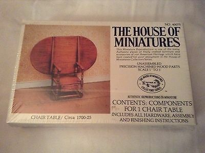 "The House of Miniatures 40075 Dollhouse Furniture ""Chair Table"" Vintage"