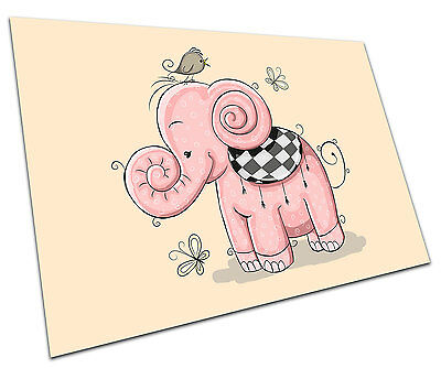Pink Elephant Wall Art Large A1 Poster 33 X 23 Inch