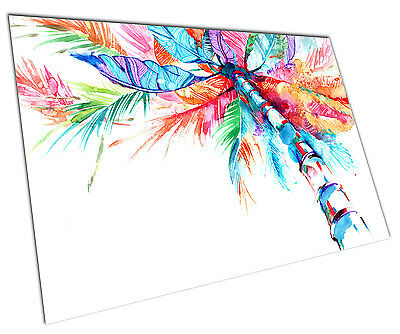 Watercolour Palm Tree Wall Art Large A1 Poster 33 X 23 Inch