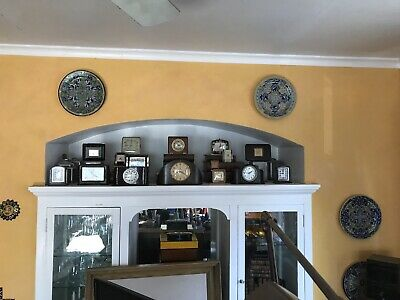 collection of six French Jaz art deco bakelite clocks