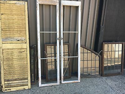 "pair late 19th century cabinet or pantry doors chalk white paint 71.5"" x 17.75"""