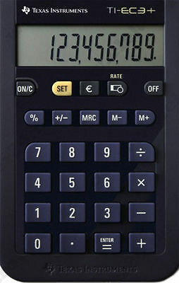 2x Texas Instruments ti-ec 3 + mini-schul calculatrice