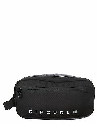 New Rip Curl Men's Trad Toiletry Midnight Bag Polyester Black