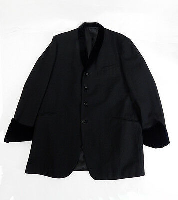 Mens Original 1950s Vintage Black Teddy Boy / Drape Jacket/Blazer Size Large