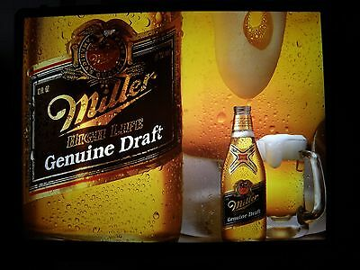 """""""very Large""""!!! Miller Beer Light/sign  Awesome Light/very Bright """"usa Made"""""""