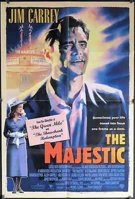 724  MAJESTIC int'l DS poster 1sh '01 great art of Jim Carrey, Laurie Holden