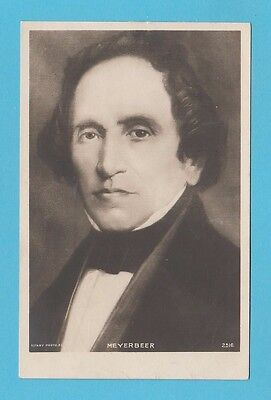 Composer  -  Rotary Photographic Postcard -  Meyerbeer  -  1901-10