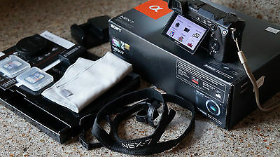 Sony Alpha NEX-7 24.3 MP Digital Camera Body Kit + Accessories 8GB Memory Cards