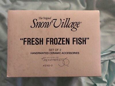 Department 56 Snow Village Fresh Frozen Fish Accessory New in Styrofoam FREE S&H