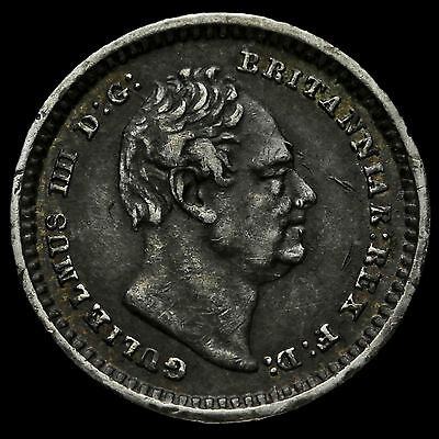 1834 William IV Milled Silver Three-Halfpence