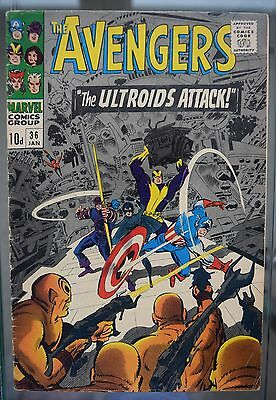 The Avengers #36 1967 Marvel 'the Ultroids Attack' Silver Age Comic
