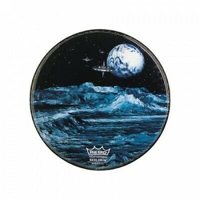Remo Custom Graphic Blue Moon Resonant Bass Drum Head 60cm. Delivery is Free