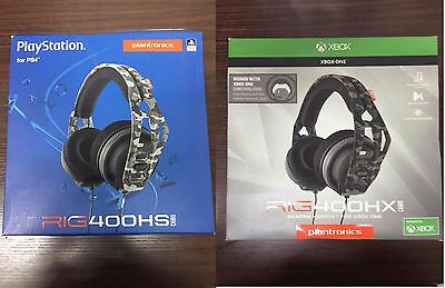 Plantronics RIG 400HX 400HS CAMO Gaming Headset For XBOX ONE & PS4 Retail: $50!