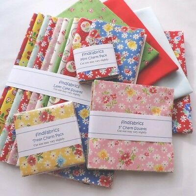 """Old New 30's ~ 2½"""" Mini ~ 3½"""" Treat ~ 5"""" Charm ~ 10"""" Layer Squares LECIEN Fabric"""