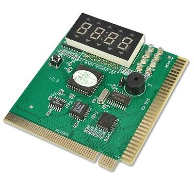 PCI & ISA Motherboard Test Diagnostics Display 4-Digit Debug Post Card Analyzer