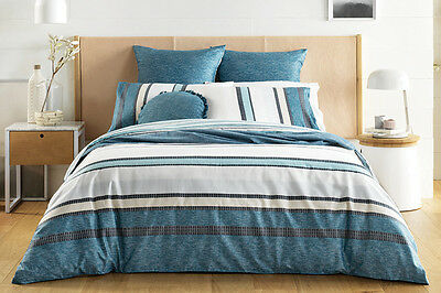 NEW Sheridan Stanmore Quilt Cover Set - Kingfisher