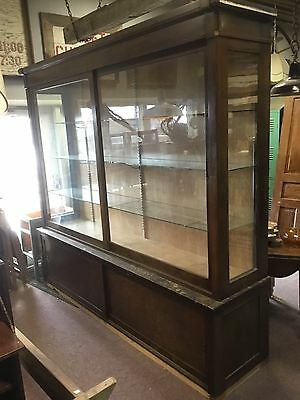antique large glass top store display cabinet