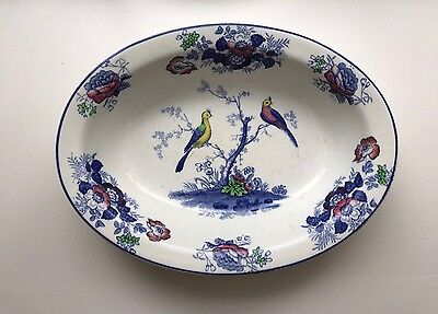 RARE Wood & Sons Antique China Oriental Birds Vegetable Bowl Frederick Rhead