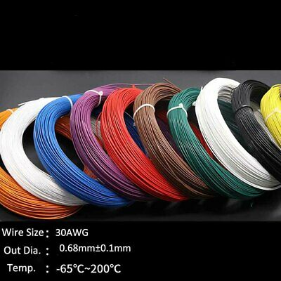 Teflon Silver Plated Copper Wire 30AWG 0.68mm Earphone Cable -65°C~250°C 300V