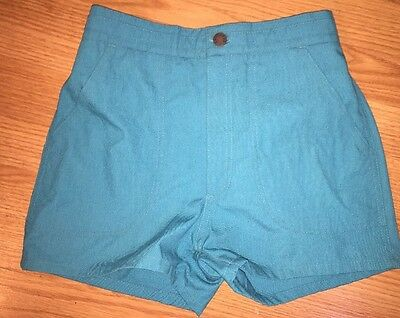 Vintage Islander Shorts High Waisted Surf Board Size 30 Lagoon Teal Blue Green