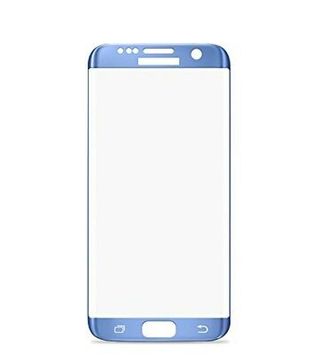 For Samsung Galaxy S7 Edge [ Coral Blue ] 9H 3D Tempered Glass Screen Protector