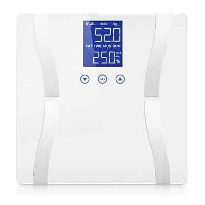 SOGA Digital Body Fat Scale Bathroom Scale Weight Gym Glass Water LCD Electronic