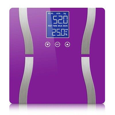 Digital Body Fat Scale Bathroom Scales Weight Gym Glass Water LCD Electronic PUP