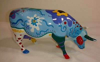 """2001 Pre-owned CowParade """"Cow Doodle"""" Retired - Item No. 9194"""