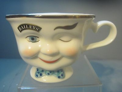 Bailey's Yum 6 Oz Coffee Cup Winking Face Man Blue  Bow Tie