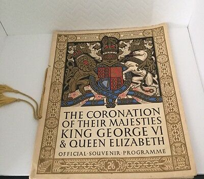 The Coronation Of Their Majesties King George VI & Queen Elizabeth Programme