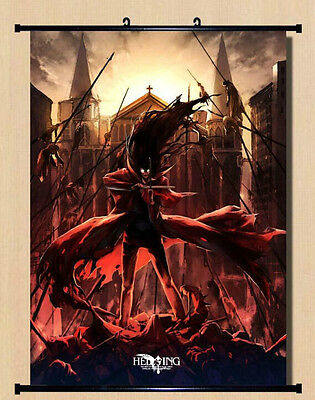 Home Decor Japanese Anime Wall poster Scroll Hellsing Alucard Cosplay Art 09