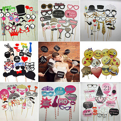 Photo Booth Props Emoji Mask Mustache Glasses On A Stick Birthday Wedding Party