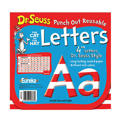 Dr Seuss 4 In Red & White Letters