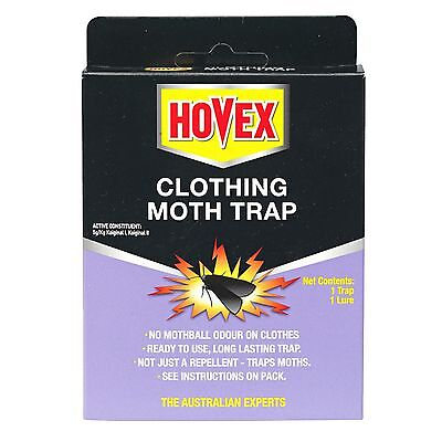 2 × Hovex CLOTHING MOTH TRAPS, Non-Toxic Alternative to Pesticides