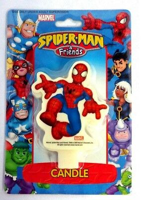 Candle Topper Candle Spiderman Pack of 15