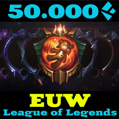 League of Legends EUW Account LoL 50000 BE IP Smurf Unranked Level 30 EU West PC