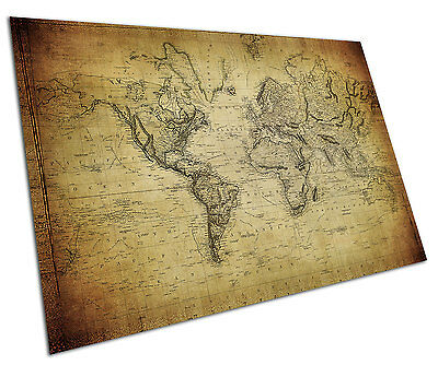 Vintage World Map Wall Art Large A1 Poster 33 X 23 Inch