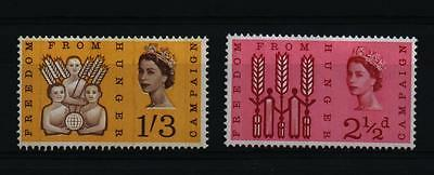 1963 FREEDOM FROM HUNGER  FFH PHOSPHOR PHOS SET  MNH  SG634p - 635p