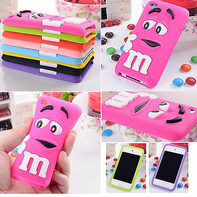 3D Cute M&M Chocolate Soft Silicone Rubber Case Cover For iPod Touch 4th 5th 6th