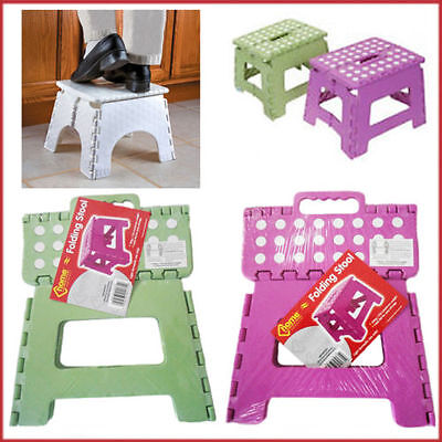 Multi Purpose Step Up Stool Folding Easy Storage DOTTED Kitchen Home Office Use