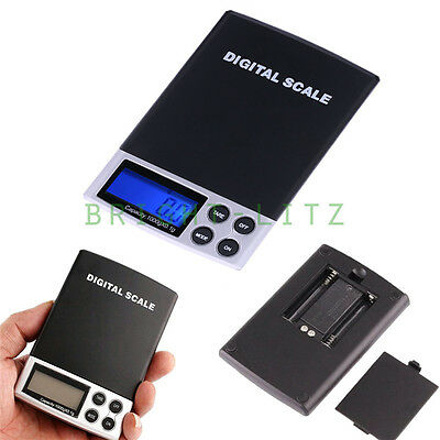 0.1g-1000g Precise Battery Power Digital LCD Balance Weighing Scales Gem Jewelry