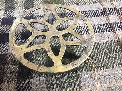Lovely Heavy Brass Antique Trivet