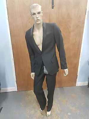 Alexander Mcqueen Black Tuxedo With  Wool Shawl Collar  (Size 48) And Trousers
