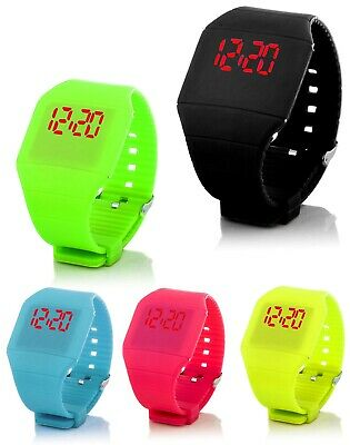 Digital Silikon LED Armband Uhr Armbanduhr Watch Kinder Unisex Fitness Sport