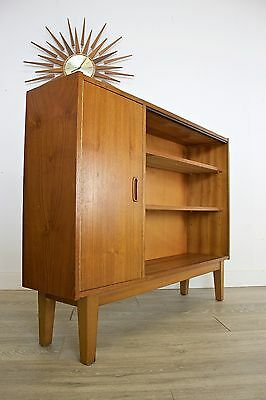 DELIVERY £50 Mid Century Retro Danish Style Teak Compact Sideboard Low Bookcase