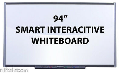 "Smart Tech Smart Board SB690 94"" Interactive White Board - NEW"
