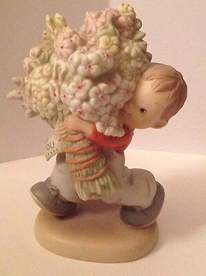"""1991 Enesco Memories of Yesterday""""A Whole Bunch of Love for You"""" Figurine-522732"""