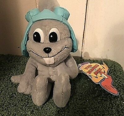 New With Tag~Stuffins~Rocky And Bullwinkle~Rocket J. Squirrel Plush~Ltd Edition