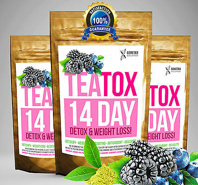 MIXED BERRY TEATOX 14 DAY DETOX SET (Weight Loss Tea, Slimming Tea BURN FAT TEA)