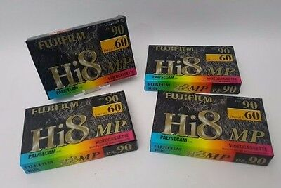 4x Fujifilm Hi8 P5-90 Camcorder Tapes Cassettes Digital 8 Excellent Quality NEW